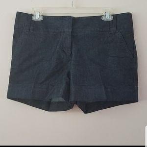Express dark denim cuffed shorts size 10